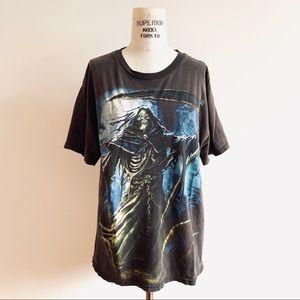 Grim Reaper Graphic Concert Style T Shirt